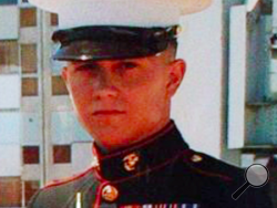 This photo provided by  family shows U.S. Marine Brian LaLoup, who died in 2012 while stationed in Greece. LaLoup's parents, Coatesville Pa. residents said when his body arrived home in Pennsylvania his heart was missing, and they've sued the Department of Defense. On Tuesday, his mother, Beverly LaLoup, said a heart was later sent to them, but it wasn't her son's. (AP Photo/LaLoup Family)