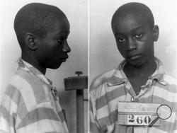This file photo provided by the South Carolina Department of Archives and History shows George Stinney Jr., the youngest person ever executed in South Carolina, in 1944. Supporters of Stinney plan to argue Tuesday, that there wasn't enough evidence to find him guilty in 1944 of killing a 7-year-old and an 11-year-old girl. The teen was found guilty of killing the white girls in a trial that lasted less than a day in the tiny Southern mill town of Alcolu, separated, as most were in those days, by race.