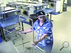 Police are looking to identify this man, who they say took a couple hundred dollars in change from a coin laundry on Market Street. (Bloomsburg Police Department/Special to the Press Enterprise)