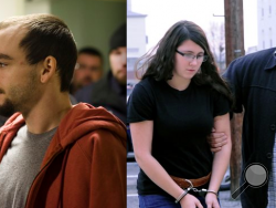 File photos of Elytte Barbour, 22, left, and Miranda Barbour, 18, of Selinsgrove. (Source: Elyett Barbour photo: AP Photo/The News-Item, Larry Deklinski, File; Miranda Barbour photo: AP Photo/The News-Item, Mike Staugaitis, File)