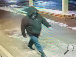 South Centre Police/This photo shows the burglar who broke into Your Choice gas station, 6307 Columbia Blvd., early Sunday morning. South Centre Police are asking any members of the public with information about the thief to call them at 570-784-8552.