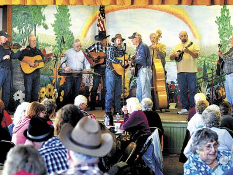 The Greenwood Valley Boys and friends take to the stage with gospel music  to kick off the 35th season of Jerseytown Jams at the Jerseytown Community Center on Sunday. The bluegrass jams are held on the third Sunday of the month.
