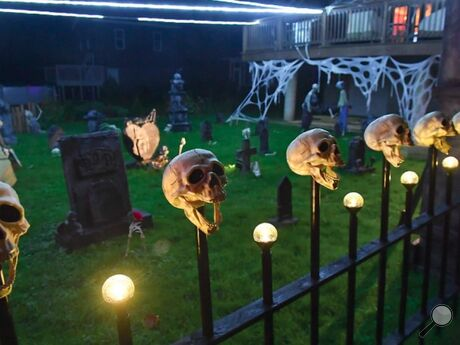 Thisdisplay behind a home on Walnut Street in Fernville is one of a few new graveyards in the village for Halloween.Homeowners Mark and Debbie Minter go all out with decorations