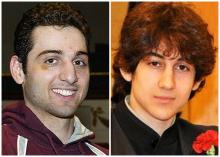 This combination of undated photos shows Tamerlan Tsarnaev, 26, left, and Dzhokhar Tsarnaev, 19. The FBI says the two brothers and suspects in the Boston Marathon bombing killed an MIT police officer, injured a transit officer in a firefight and threw explosive devices at police during a getaway attempt in a long night of violence that left Tamerlan dead and Dzhokhar still at large on Friday, April 19, 2013. The ethnic Chechen brothers lived in Dagestan, which borders the Chechnya region in southern Russia.