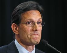 House Majority Leader Eric Cantor concedes Tuesday night.