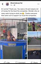 "A since-deleted Facebook post by the Bloomsburg Fair featured photos of a man in a dress which the fair called ""Dr. Levine."" Dr. Rachel Levine is the transgender woman who is state Secretary of Health. (Special to the Press Enterprise)"