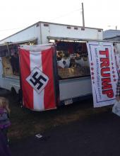 Lawrence Betsinger's stand at the Bloomsburg Fair, as shown in a picture shared on social media. (Special to the Press Enterprise)