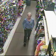 Surveillance video showing a woman police say left a cup with urine inside it in the Dollar General in Catawissa. (Special to the Press Enterprise)