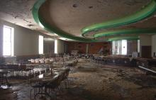 A picture provided by the Moose Exchange shows the interior of its Grille Room after the Jan. 30 fire.