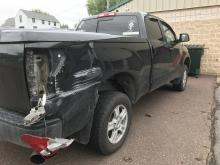 A 2010 Toyota Tundra owned by Mahoning Township Sgt. Matt Gerst was damaged Thursday morning by a truck driver attempting to turn around on Jade Avenue alongside the township building. (Press Enterprise/Chris Krepich)