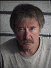 Ted Komoroski, shown here in his prison mugshot, was arrested Wednesday night after allegedly waving a knife on Main Street and telling three men he would cut Zs in their faces. (Photo courtesy of Columbia County Prison)