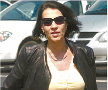 Maria Sanutti-Spencer is seen outside a 2008 court appearance. Sources say she will be charged in the murder of her ex-husband, Frank Spencer, in July 2012.