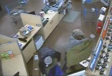 "A look at one of the surveillance photos of the reported ""smash and grab"" thefts from Walmart around 5:30 a.m. Monday."